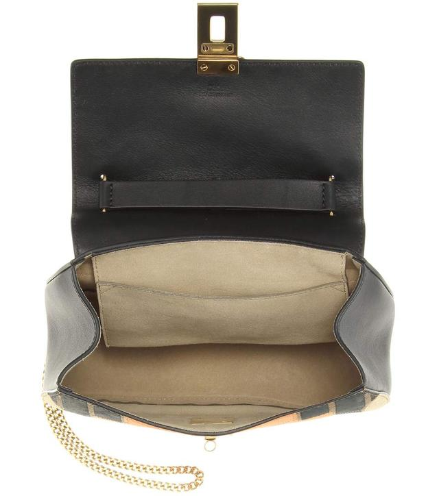chloe drew small rainbow patchwork leather and suede shoulder bag