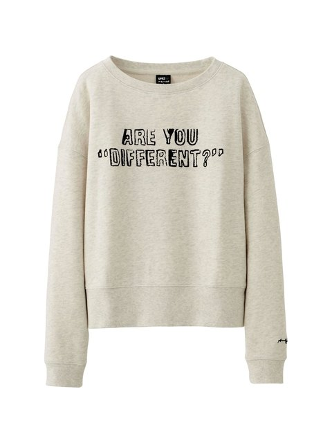 WOMEN SPRZ NY LONG SLEEVE SWEAT CROPPED SHIRT (ANDY WARHOL)  959ad0dca