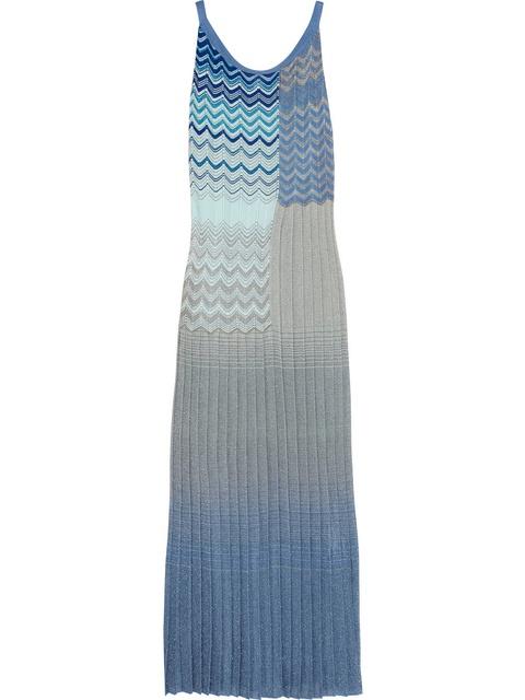 10dc4775cdc Metallic crochet-knit maxi dress